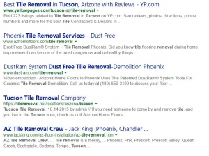 Dust Free Tucson Tile Removal Using the DustRam System by
