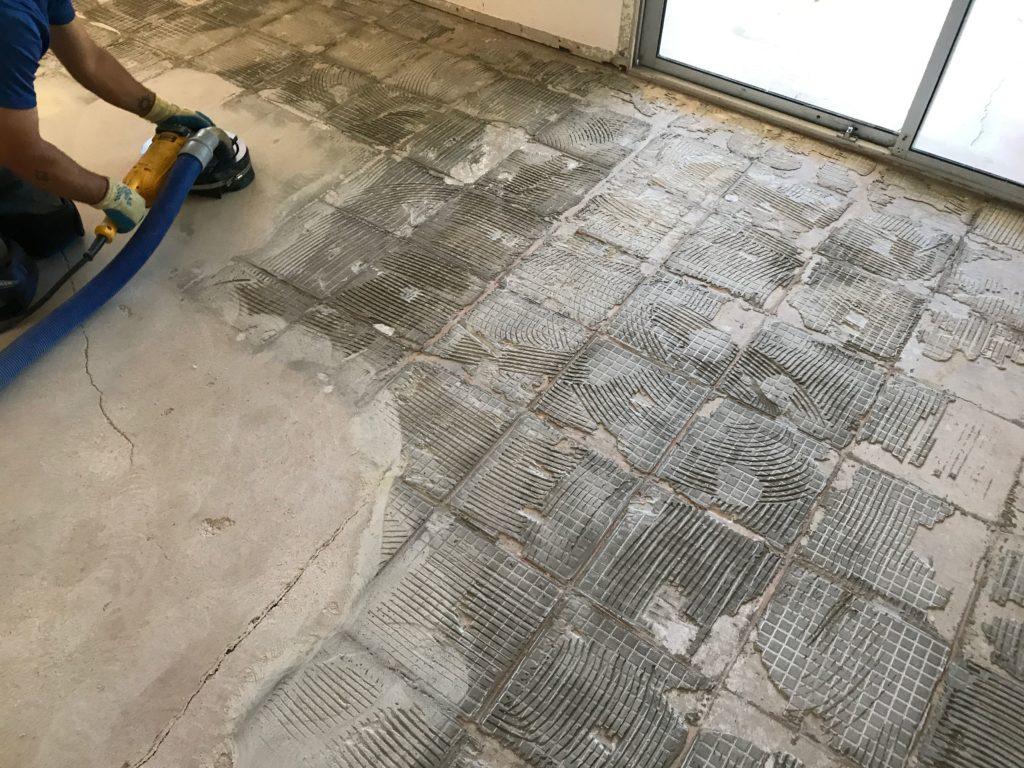 dustram tile removal
